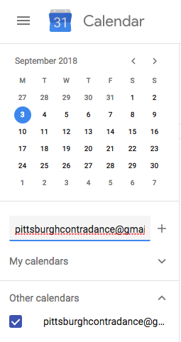 Schedule Pittsburgh Contra Dance